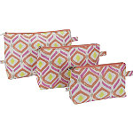 Sunrise Key 3 Piece Cosmetic Bag Set
