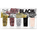 The New BlackFoiled Again 5Pc Random Cut Gold Leaf Nail Set