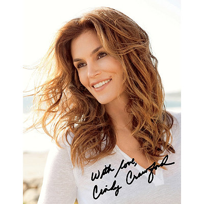 Meaningful BeautyFREE signed 8 x 10 photo of Cindy Crawford w/any Meaningful Beauty purchase