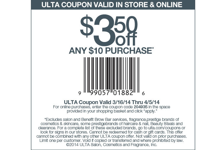 Ulta coupons mobile in store