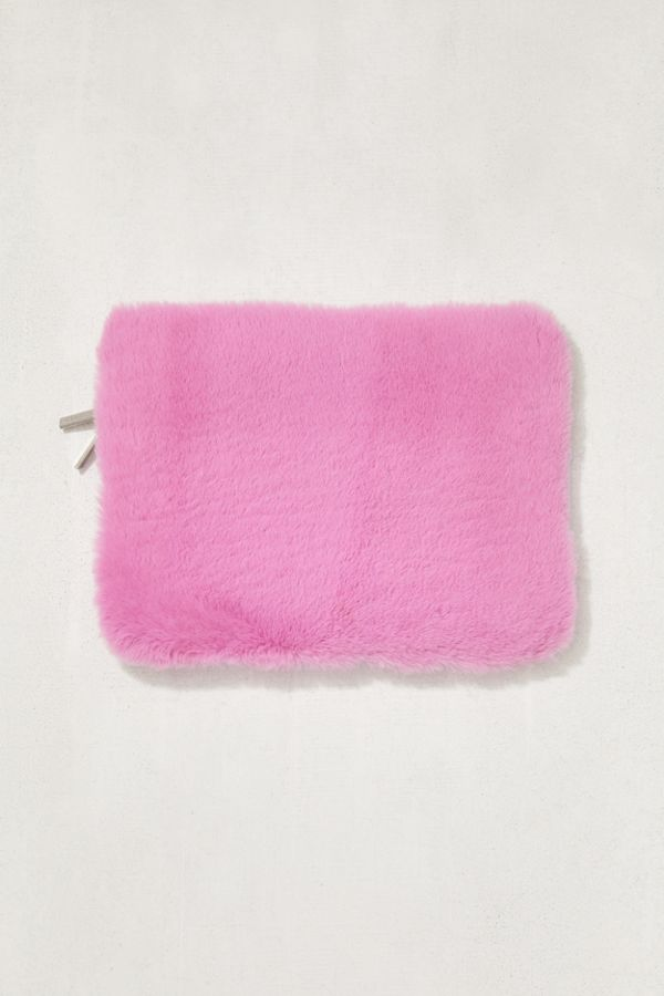 """Skinnydip Pink Furry 13"""" Laptop Sleeve 