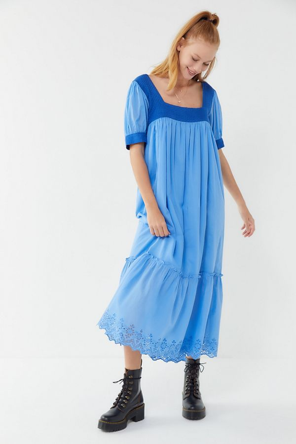 UO Gigi Puff Sleeve Frock Maxi Dress | Urban Outfitters