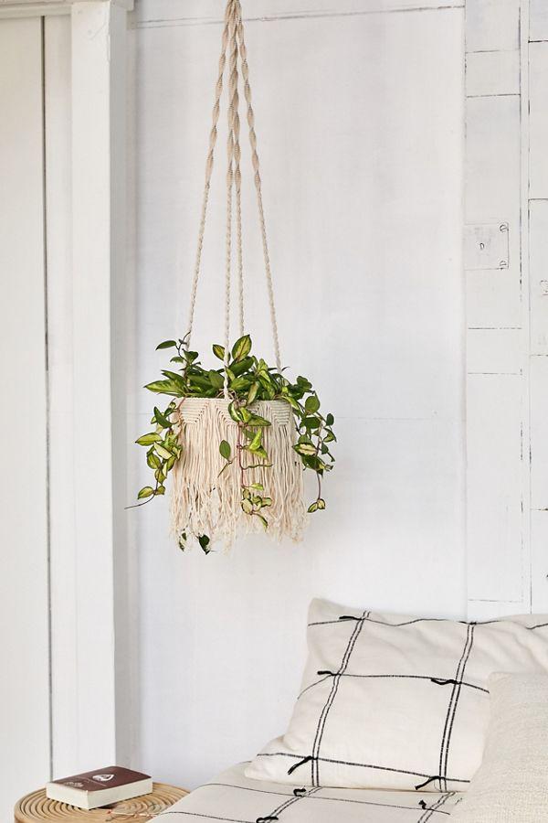 Slide View: 1: Natalie Macram茅 Hanging Planter