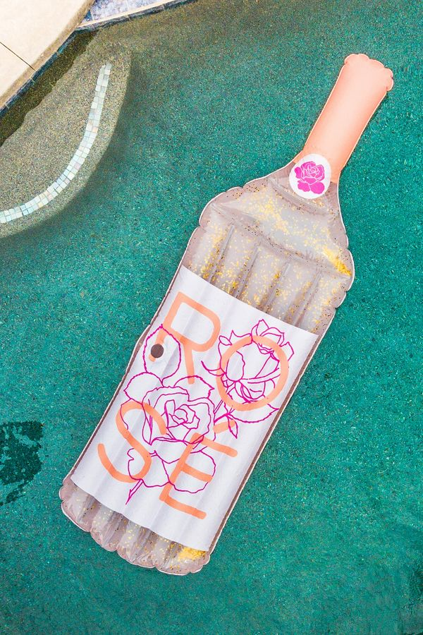 Glitter Rosé Pool Float | Urban Outfitters