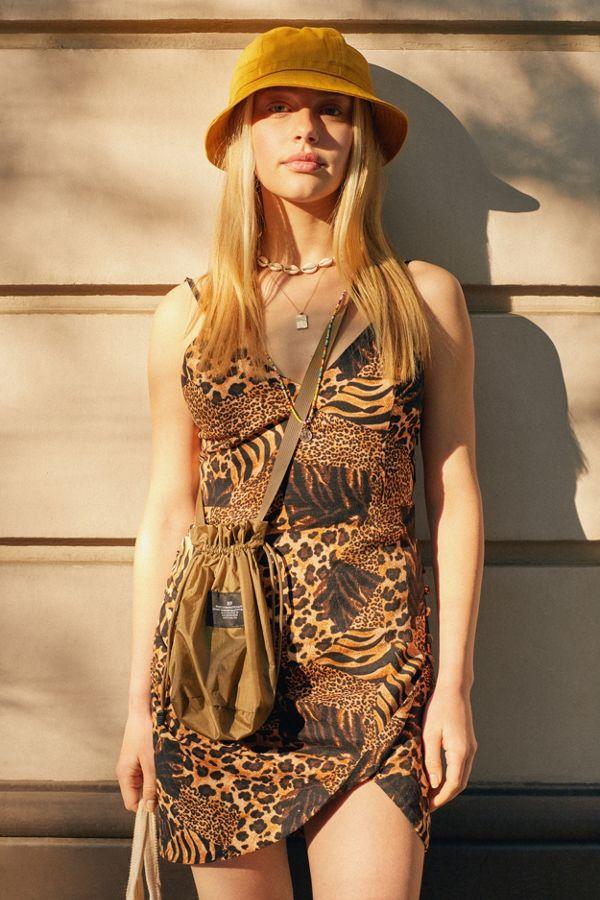 UO Imani Linen Tulip Mini Dress   Urban Outfitters