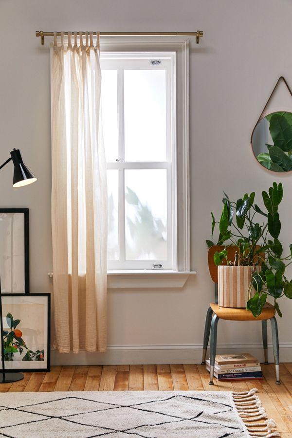 Slide View: 2: Crinkle Gauze Window Panel
