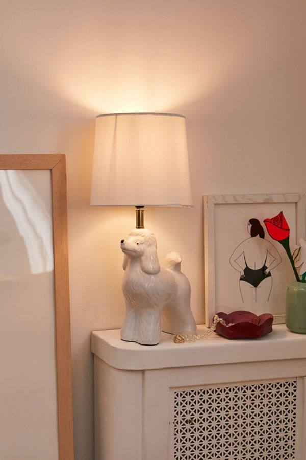 Slide View: 1: Poodle Table Lamp