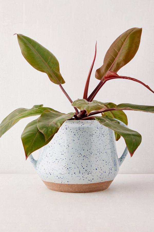 "Slide View: 1: Kiera Speckled Ceramic 8"" Planter"
