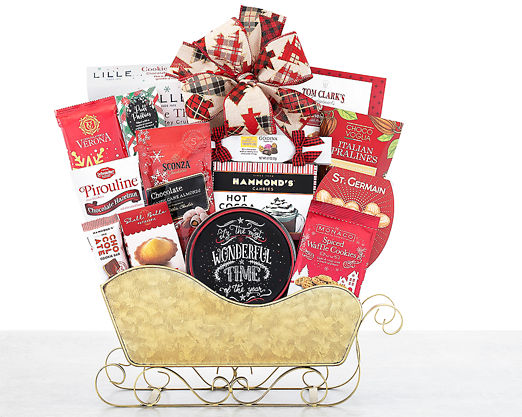 Chocolate and Sweets Holiday Sleigh - FREE STANDARD SHIPPING - Item No: 1016