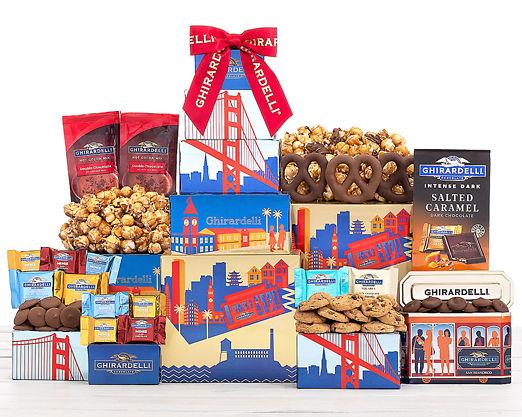 Ghirardelli Milk and Dark Chocolate Tower - FREE STANDARD SHIPPING - Item No: 1022