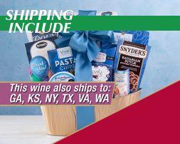 Cliffside Vineyards California Collection Gift Basket - Item No: 2023