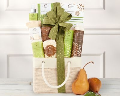 Coconut Pear Spa Assortment Gift Basket - Item No: 625
