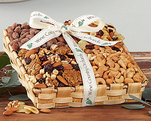 Wine Country Orchards Mixed Nut Gift Tray - FREE STANDARD SHIPPING - Item No: 834