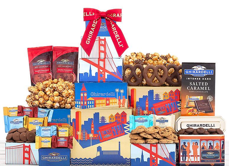 Ghirardelli Milk and Dark Chocolate Tower