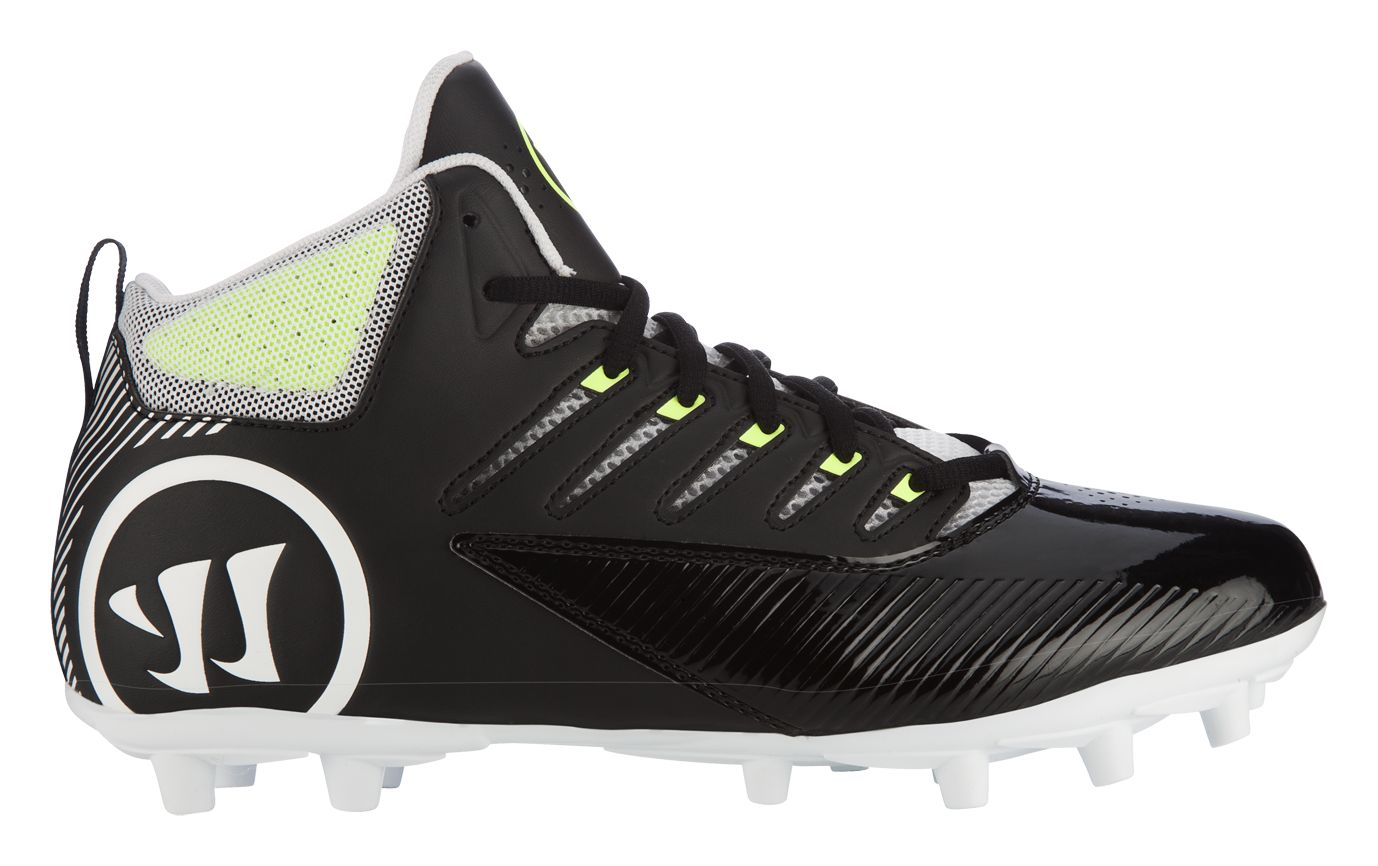 Mens Warrior Third Degree Mid Cleat Black/White Store Online Size 42