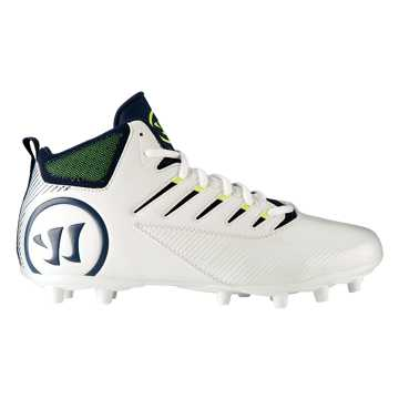 Third Degree Mid Cleat, White with Blue