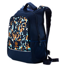 Medium Skreamer Backpack, Blue with Blue & Orange