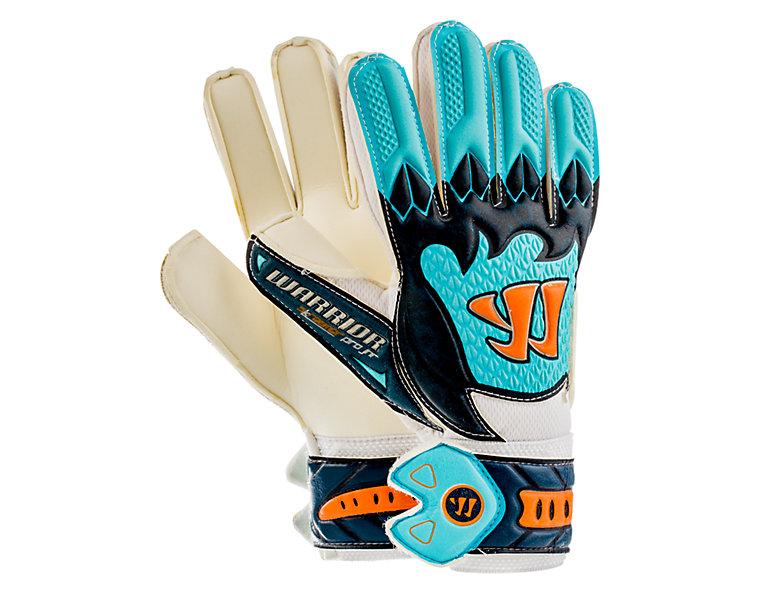 Skreamer Pro Junior Goalkeeper Gloves, White with Blue Radiance & Insignia Blue