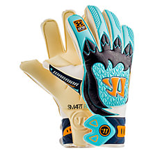 Skreamer Pro Goalkeeper Gloves, White with Blue & Blue