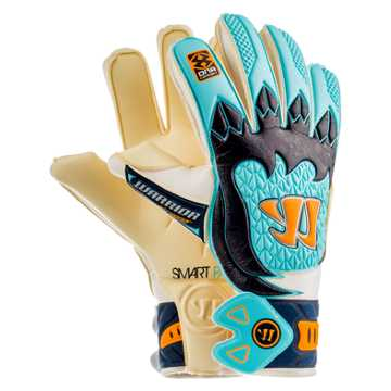 Skreamer Pro Goalkeeper Gloves, White with Blue Radiance & Insignia Blue