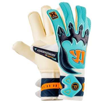 Skreamer AQ Roll Goalkeeper Gloves, White with Blue Radiance & Insignia Blue
