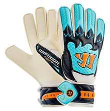 Skreamer Sentry Junior Goalkeeper Gloves, White with Blue & Blue