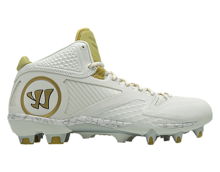 Adonis 2.0 Cleat, White with Gold