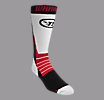 Dynasty AX2 Hockey Socks, White with Black & Red