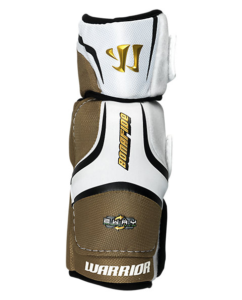 Bonafide Elbow Pad, White with Gold & Black