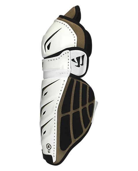 Bonafide Shin Guard, White with Gold & Black