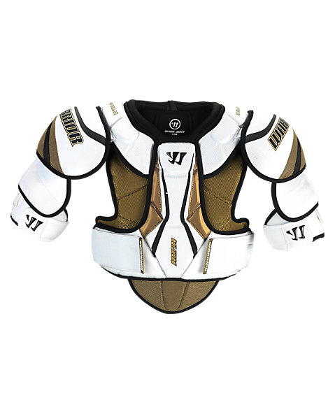 Bonafide Shoulder Pad, White with Gold & Black