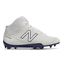Burn X Mid Cleat, White with Navy
