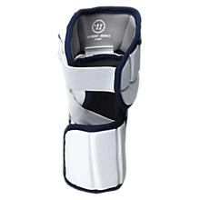 Bully Elbow Pad, White with Navy & Silver