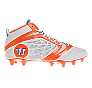 Burn Speed 6.0 Mid Cleat - Platinum Edition, Grey with Orange