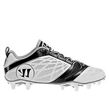 Burn Speed 6.0 Low Cleat, White with Black