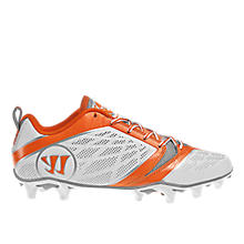 Burn Speed 6.0 Low Cleat, White with Orange