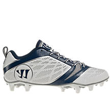 Burn Speed 6.0 Low Cleat, White with Blue
