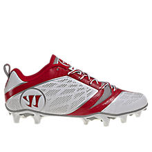 Burn Speed 6.0 Low Cleat, White with Red