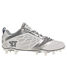Burn Speed 6.0 Low Cleat, White with Silver