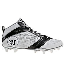 Burn Speed 6.0 Mid Cleat, White with Black
