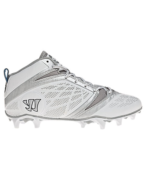 Burn Speed 6.0 Mid Cleat, White with Silver