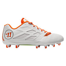 Burn 8.0 Low Cleat, White with Orange