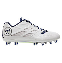 Burn 8.0 Low Cleat, White with Blue
