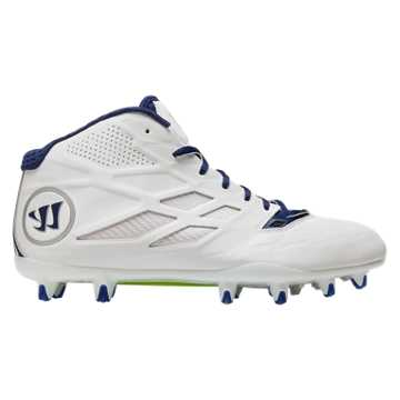Burn 8.0 Mid Cleat, White with Blue
