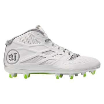 Burn 8.0 Mid Cleat, White