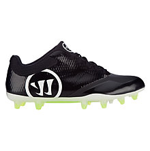Burn 9.0 Low Cleat, Black with White