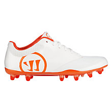 Burn 9.0 Low Cleat, White with Orange