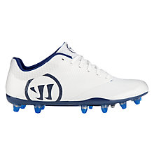 Burn 9.0 Low Cleat, White with Blue