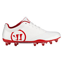 Burn 9.0 Low Cleat, White with Red
