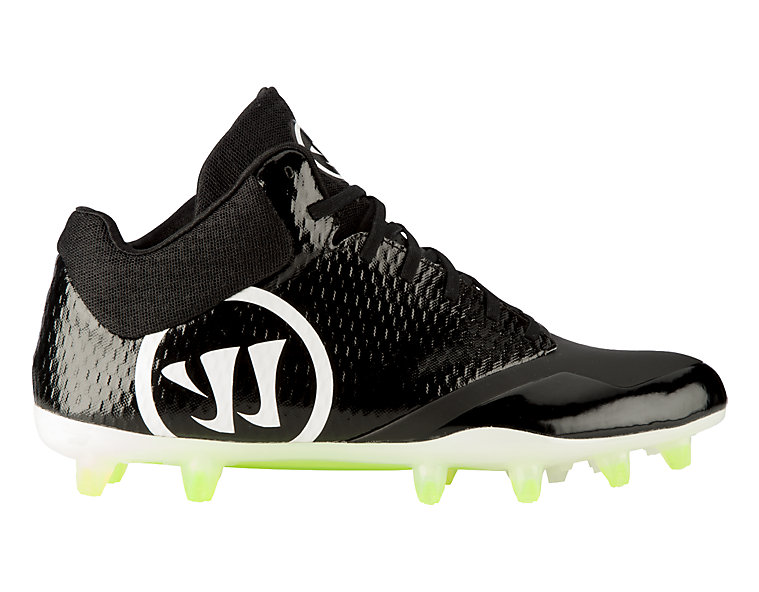Burn 9.0 Mid Cleat, Black with White